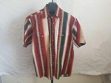 Vintage Wrangler Western Shirt Size Large Southwestern Chili Colorway Striped