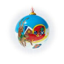 New ListingReindeer and Sleigh Christmas ornament + Red Gift Box