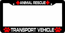 ANIMAL RESCUE TRANSPORT VEHICLE paw print  License Plate Frame