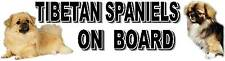 TIBETAN SPANIELS ON BOARD Car Sticker By Starprint