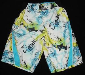 Boys Zeroxposur Surf Shorts Voltage Swim Trunks M 10-12