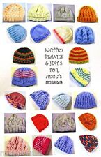 Beanies & Hats for ADULTS - 28 Different Hats-Knitting Patterns for 8 ply ~ BK37