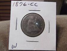 1876-CC SEATED QUARTER VG+ (W)