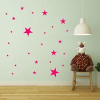 Various Size Stars Wall Stickers Kid Decal Art Nursery Bedroom Vinyl New A409