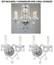 3pc Lighting Set - Crystal Chandelier and 2 Wall Sconces
