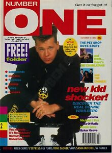 NUMBER ONE MAGAZINE DONNIE WAHLBERG THE PET SHOP OCTOBER 1990