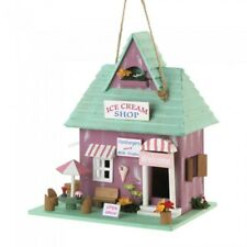 HOME GARDEN DECOR ICE CREAM SHOP BIRD HOUSE BIRDHOUSE WOOD