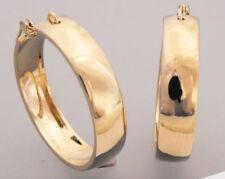 Brass Hoop Yellow Gold 14k Fashion Earrings