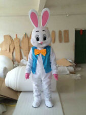 Hot Easter Bunny Mascot Costume cartoon Rabbit Fancy Dress Free Ship Adult Size