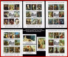 PAINTINGS from the LOUVRE = COMPLETE COLLECTION of 52 S/S & M/S MNH CV$395.00