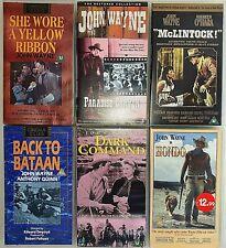 JOHN WAYNE 6 VHS  Films - Yellow Ribbon, Paradise Canyon, McLintock, Bataan