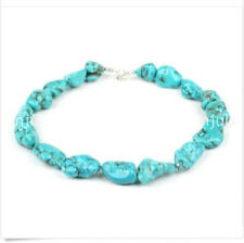 10-12mm Woman Fashion Jewelry Irregular Turquoise Stone Choker Necklace JN575