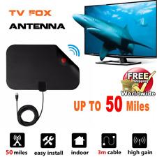 350 Mile Range HD Antenna EZ Digital TV FOX HDTV New Free Skywire Easy Channels