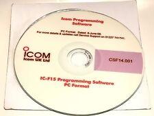 ICOM CS-F14 ORIGINALE il software di programmazione per la IC-F15, F14 F25 F24 fd5c34