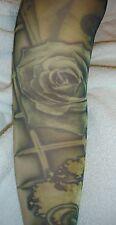 Tatuaje Falso Mangas Completo Rosa Cruz Strongbow artículo promocional Arte Corporal