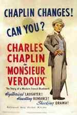 Monsieur Verdoux 01 comprimidos A3 cartel impresión