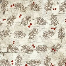 MOOSE LODGE PINE SPRIGS & BERRIES FABRIC NO. 28