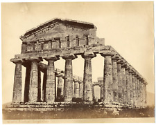 Italie, Capaccio Paestum, province de Salerne, temple d'Héra Vintage Albume