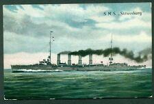"1915, Hungary Naval postcard, ""GAA"" clear circular date ship censor cancel,"