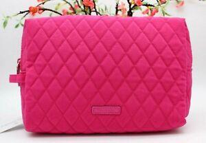 Vera Bradley Large Cosmetic Case Fuchsia Pink