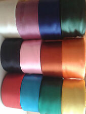 RUBAN SATIN x 38mm Taille, 12 différentes couleurs, 25 Yrds Chaque Rouleau