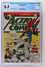 Action Comics #86 - DC 1945 CGC 6.5 -Superman- Last war cover.