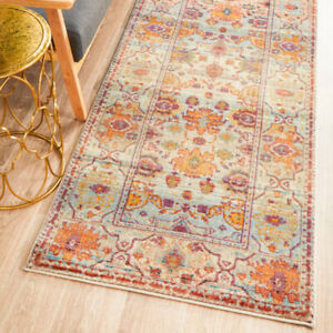 ATHENA MULTI COLOUR TRADITIONAL FLORAL DESIGN MODERN RUG RUNNER 2 Sizes **NEW**