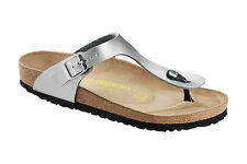 Birkenstock Gizeh Sandals Birko-Flor Patent Shoes womens Slides Shoes Thongs