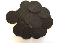 "Wholesale! Lot of 100 pcs 1 1/2"" (40mm) black felt circle, fast ship from Usa"