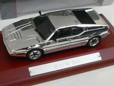1/43 Atlas BMW M1 chrome mit Holzsockel 7687104