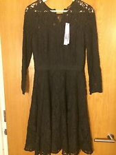 Phase Eight Black Lace Long Sleeves Dress Size 10 - NEW