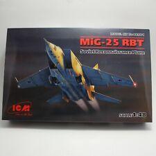 MiG-25 RBT Soviet Reconnaissance Plane 1/48 ICM # 48901