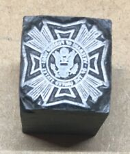 """VFW 5/8""""Letterpress Printing Block Veterans of Foreign Wars of the United States"""
