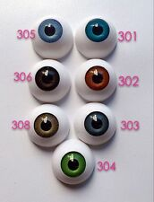 16 Pairs 26mm HALF ROUND ACRYLIC REBORN DOLL EYES for Reborn/BJD/OOAK Doll eyes