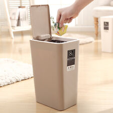 Trash Can Pressing Type Bathroom Kitchen Office Food Waste Dustbin With Lid