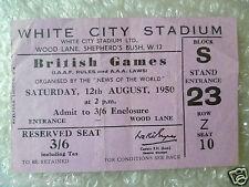 1950 Juegos británico billete organizado por noticias del mundo, 12 de agosto de 1950