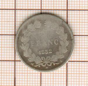1 franc argent Louis Philippe 1832 B Rouen