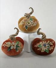 Katherine's Collection Spiced Tradition Pumpkins 28-828423 NEW Thanksgiving Fall