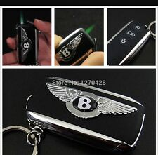 Bentley  CAR KEY Ring  DESIGN CIGARETTE LIGHTER REFAILLABLE JET FLAME U.K Seller