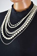 New Nordstrom Joe Fresh Womens Multi-Strand Pearl Chain Necklace Fashion Jewelry