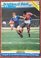 BRIGHTON AND HOVE ALBION v ARSENAL - DIVISION 1,  10.4.1982 - FOOTBALL PROGRAMME