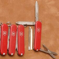 sa6 Lot of 4 Red NO logos Victorinox Classic SD Swiss Army knives knife knives