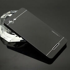 Premium Brushed Metal Aluminum Hard Case Samsung Galaxy iPhone 6 7 Plus + Glass