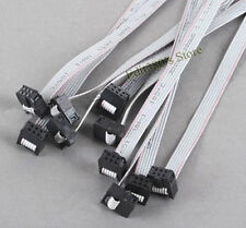 10pcs New IDC 6 Pin (3x2) Arduino ISP SPI X 2 Ribbon Cable Free shipping