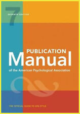 Publication Manual of the American Psychological Association 7th Ed E-B𐌏𐌏K 📩