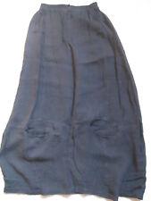 NOOK leichter langer Sommerrock Schwarz Gr. 1 36/38  Leinen Crepe Taschen Top