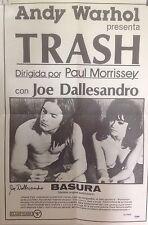 TRASH MOVIE POSTER ,SIGNED BY JOE DALLESANDRO ;BONUS-SEE BELOW!!!!
