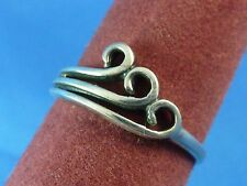 Sterling Silver Cut Out Circles Petite Ladies Ring Size 6 Stamped 925 No Mark