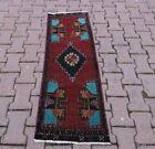 Vintage Decor Doormat Rug Anatolian Oriental Handmade Oushak Wool Carpet 2x4 ft