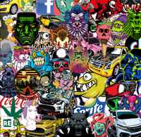 100+ Cool Sticker Bomb Decal Graffiti Luggage Laptop Skate Car PVC Vinyl